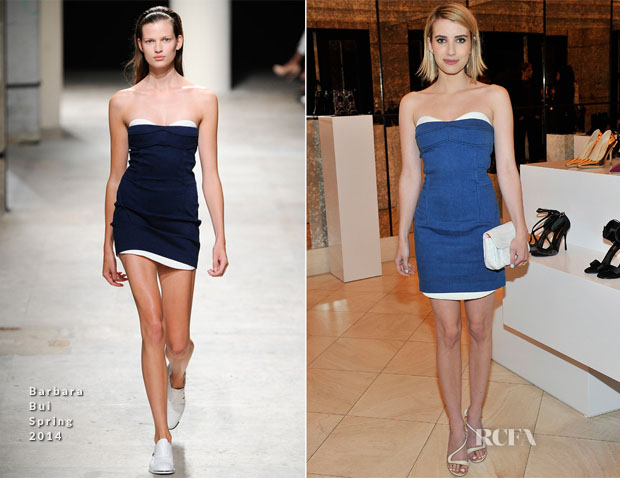 Emma Roberts In Barbara Bui - Nicholas Kirkwood Dinner Party