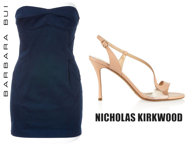 Emma Roberts In Barbara Bui - Nicholas Kirkwood