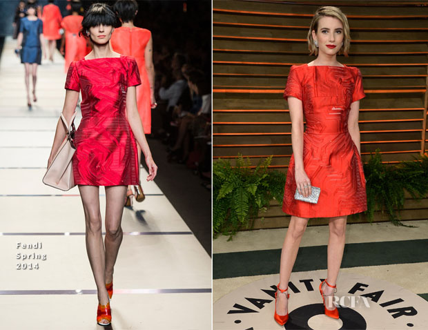Emma Roberts In Fendi - Vanity Fair Oscar Party 2014