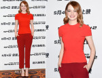 Emma Stone In Roland Mouret - 'The Amazing Spider-Man 2: Rise of Electro' Beijing Press Conference