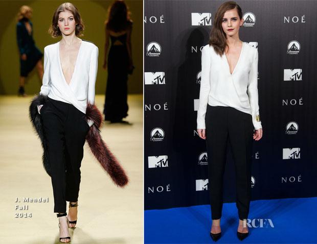 Emma Watson In J Mendel - 'Noah' Madrid Premiere
