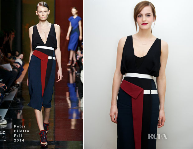 Emma Watson In Peter Pilotto - 'Noah' Press Conference