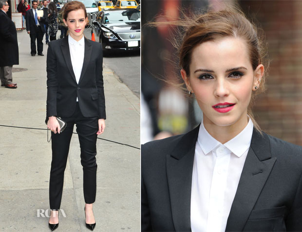 Emma Watson In Saint Laurent - Late Show with David Letterman