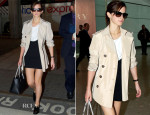 Emma Watson In Sandro - London's Heathrow Airport