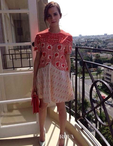 Emma Watson In Stella McCartney - 'Noah' LA Press Junket