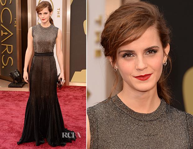 Emma Watson In Vera Wang - Oscars 2014