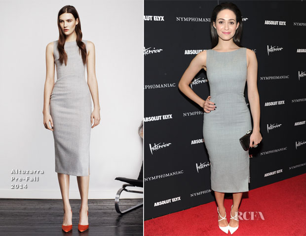 Emmy Rossum In Altuzarra - 'Nymphomaniac Volume I' New York Screening