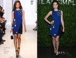 Emmy Rossum In Andrew Gn - Real Simple's Botanical Beauty Cocktail Party