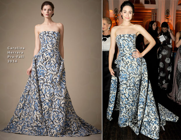 Emmy Rossum In Carolina Herrera - Art Production Fund's White Glove Gone Wild Gala Honoring Carolina Herrera