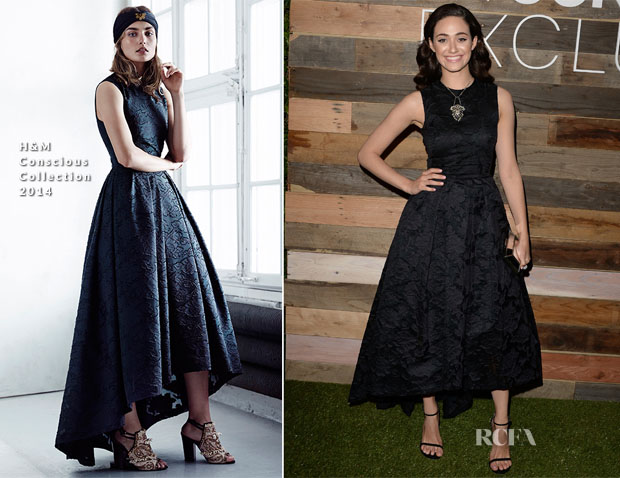 Emmy Rossum In H&M Conscious Collection - H&M Conscious Collection Dinner