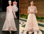 Emmy Rossum In Monique Lhuillier - Vanity Fair Oscar Party 2014