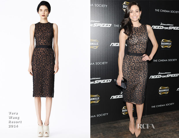 Emmy Rossum In Vera Wang  -  'Need For Speed' New York Premiere