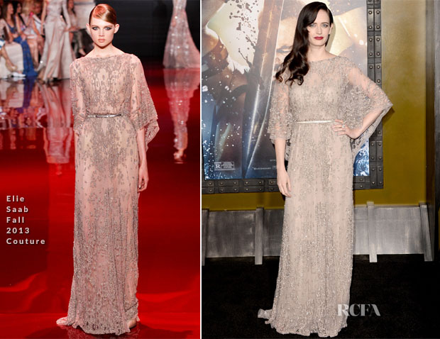 Eva Green In Elie Saab Couture -  '300 Rise Of An Empire' LA Premiere