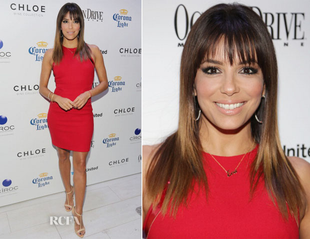 Eva Longoria In David Koma - Ocean Drive Magazine Spring Fashion Issue Debut