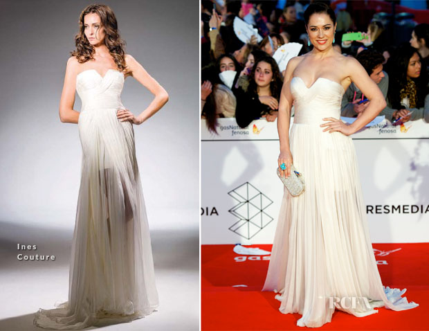 Eva Marciel In Ines Couture - Malaga Film Festival 2014 Closing Ceremony