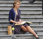 Blake Lively In Gucci - On The Set Of 'Age of Adaline'