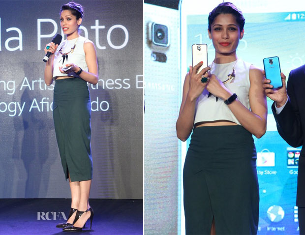 Freida Pinto In Nishka Lulla - Samsung Galaxy S5 smartphone and Galaxy Gear Launch
