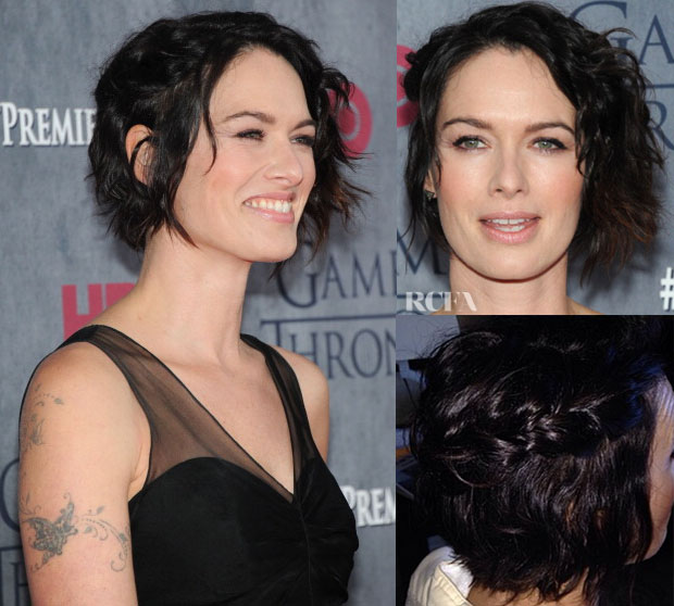 Get The Look Lena Headey Braided Textured Bob2
