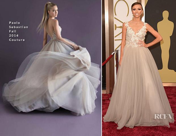 80112ed9cb Giuliana Rancic In Paolo Sebastian Couture - Oscars 2014 - Red ...