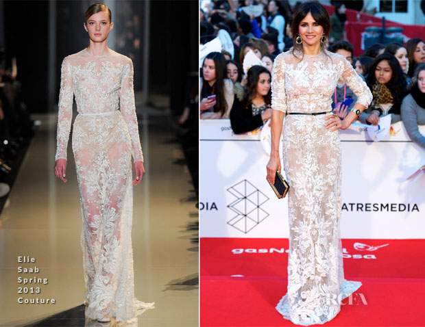 Goya Toledo In Elie Saab Couture - Malaga Film Festival 2014 Closing Ceremony
