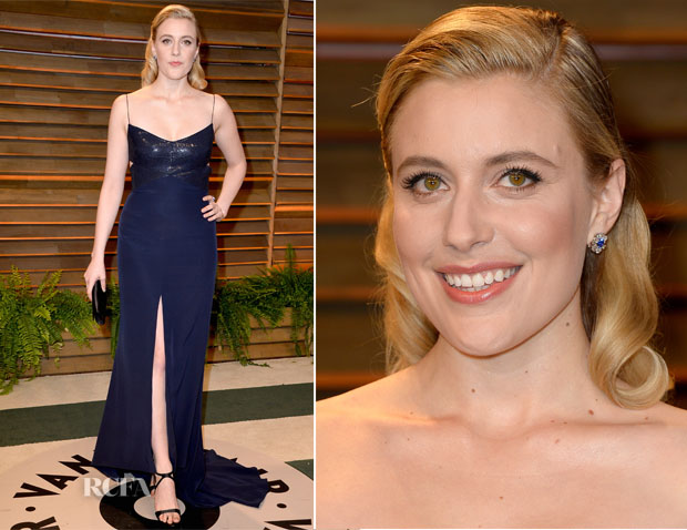 Greta Gerwig In Narciso Rodriguez - Vanity Fair Oscar Party 2014