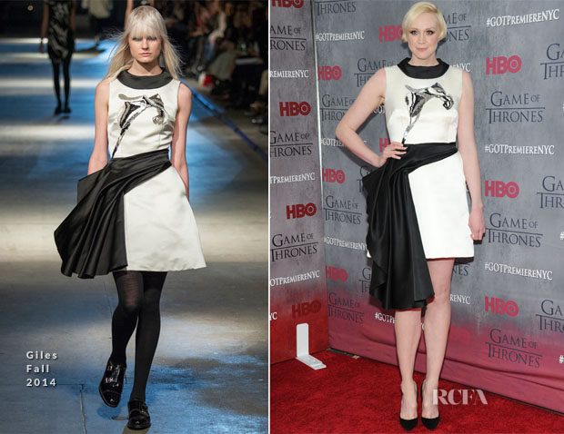 Gwendoline Christie In Giles - 'Game Of Thrones' Season 4 New York Premiere