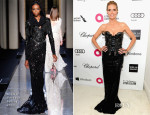 Heidi Klum In Atelier Versace - Elton John AIDS Foundation Oscar Party