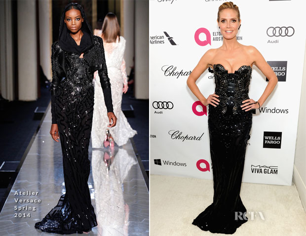 Heidi Klum In Atelier Versace - Elton John AIDS Foundation Oscars Party