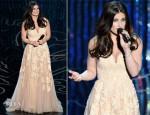 Idina Menzel In Reem Acra - Oscars 2014 Performance