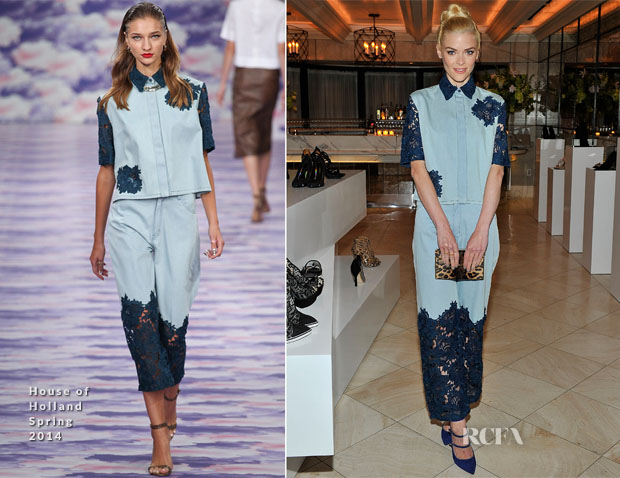 Jaime King In House of Holland - Nicholas Kirkwood Dinner Party