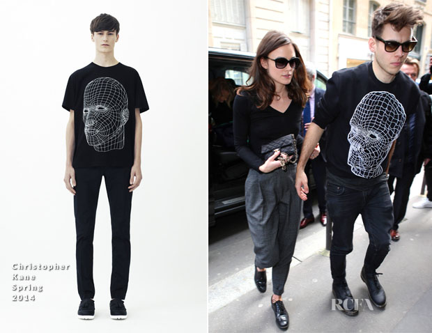 James Righton In Christopher Kane - Out In Paris
