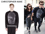 James Righton's Christopher Kane Netting Face Embroidered Sweater