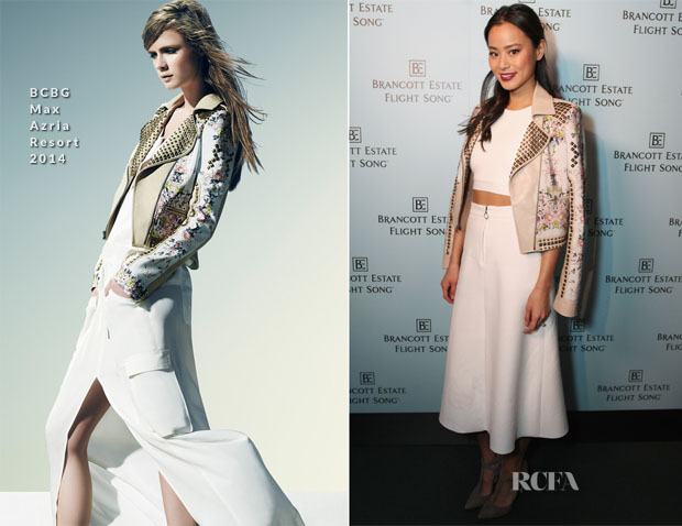 Jamie Chung In BCBG Max Azria - Brancott Estate Flight Song Launch