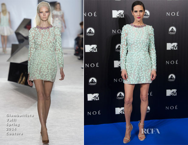 Jennifer Connelly In Giambattista Valli Couture - 'Noah' Madrid Premiere