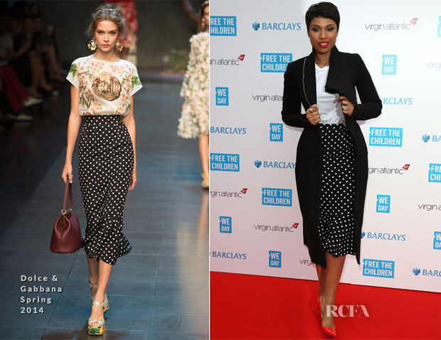Jennifer Hudson In Dolce & Gabbana S14 – 'We Day UK'