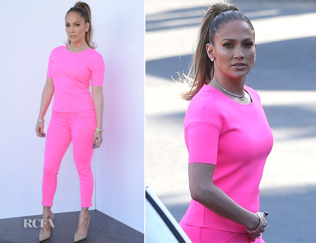Jennifer Lopez In J Brand - American Idol