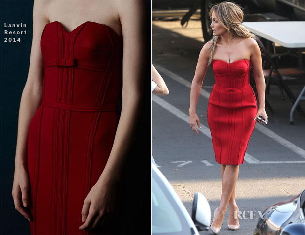 Jennifer Lopez  In Lanvin - 'American Idol' Season 13 Top 9 to 8 Live Elimination Show