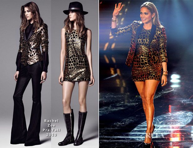Jennifer Lopez In Rachel Zoe - 'American Idol XIII' Top 10 to 9 Live Elimination Show
