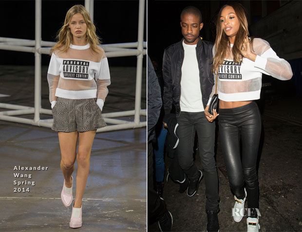 Jourdan Dunn In Alexander Wang - Drake After Party