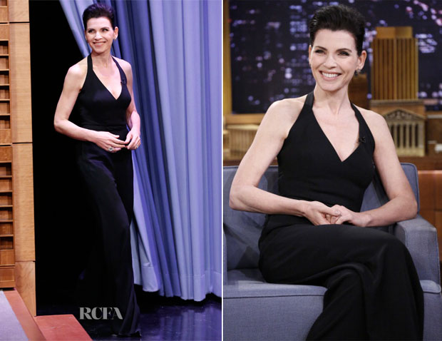 Julianna Margulies In L Wren Scott The Tonight Show Starring Jimmy Fallon Red Carpet Fashion Awards