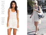 Julianne Hough's Free People Voile And Lace Trapeze Slip