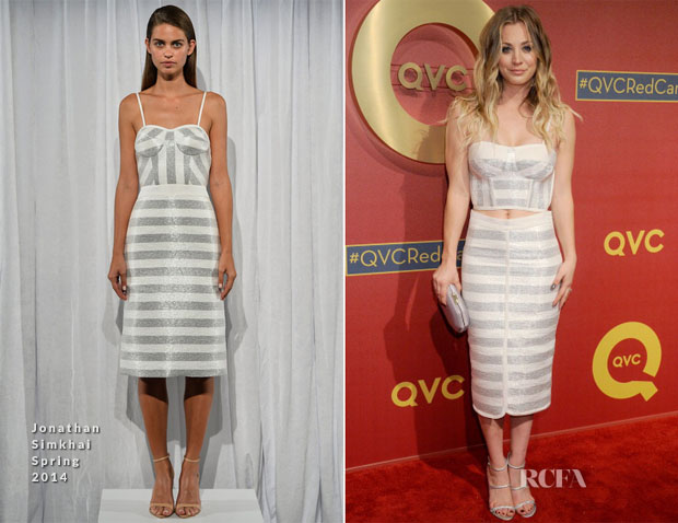 Kaley Cuoco In Jonathan Simkhai - QVC 5th Annual Red Carpet Style Event