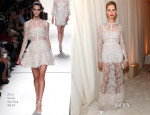 Karolina Kurkova In Elie Saab - Elton John AIDS Foundation Oscar Party