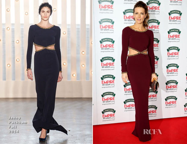 Kate Beckinsale In Jenny Packham - Jameson Empire Awards 2014