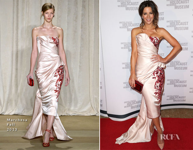 Kate Beckinsale In Marchesa - United States Holocaust Memorial Museum Presents '2014 Los Angeles Dinner What You Do Matters'