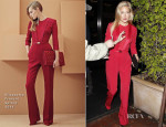 Kate Hudson In Elisabetta Franchi - Madeo Restaurant