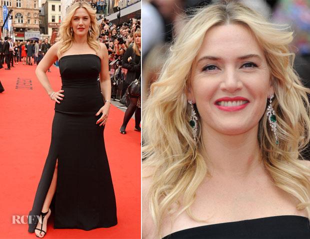 Kate Winslet In Jenny Packham - 'Divergent' London Premiere