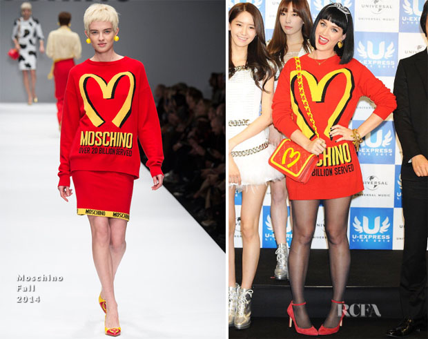 Katy Perry In Moschino - U-Express Live 2014 Press Conference