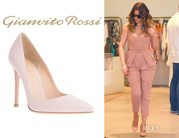 Khloe Kardashian's Gianvito Rossi Pointed Toe Pumps