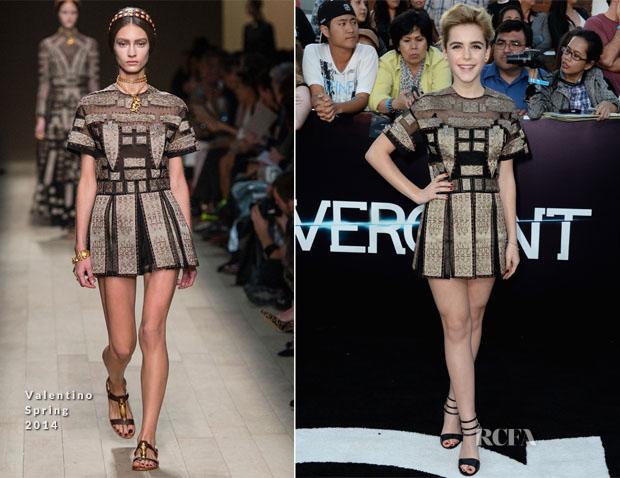 Kiernan Shipka In Valentino Spring 2014 - 'Divergent' LA Premiere